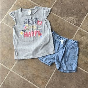 Gymboree Be Kind outfit size 7 girls